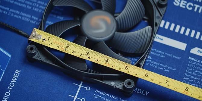 как определить размер вентилятора для корпуса компьютера