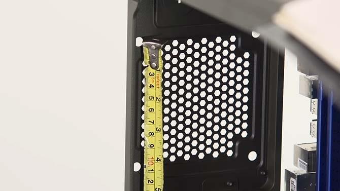 какой размер вентилятора в корпусе компьютера