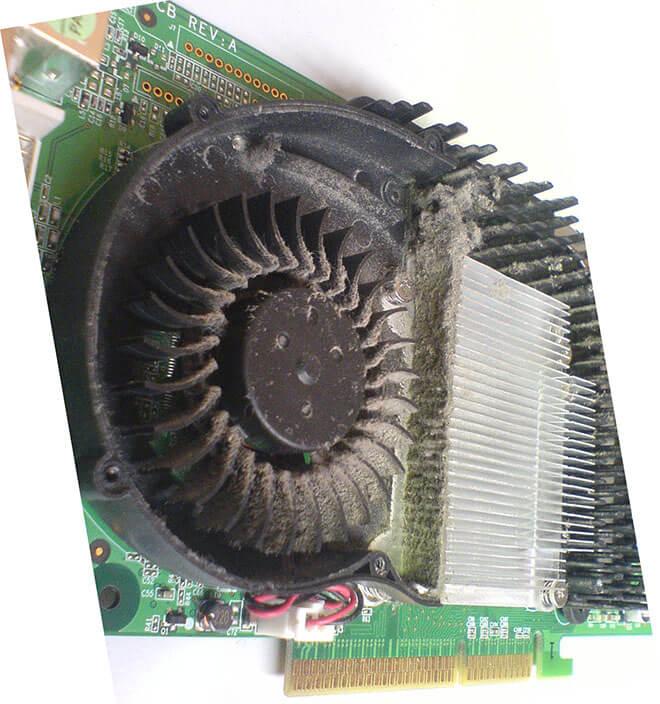 Пыль в кулере видеокарты
