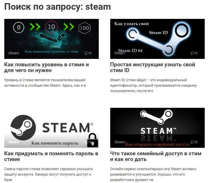 поиск на сайте agepc.ru по запросу steam