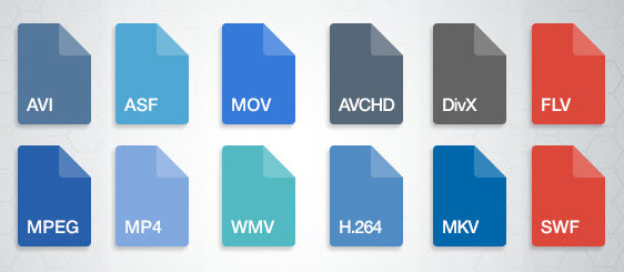 различные типы файлов