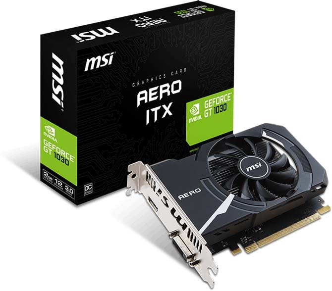 nVidia GeForce GT1030 MSI PCI-E 2048Mb (GT 1030 AERO ITX 2G OC