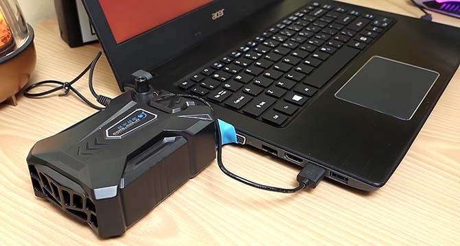 Вакуумный кулер для ноутбука