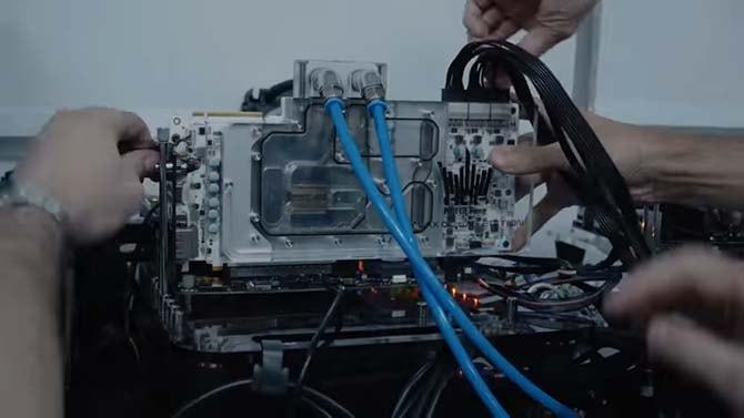 Водоблок полного покрытия для видеокарты Galax HOF OC Lab
